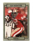 GUY MCINTYRE SAN FRANCISCO 49ER'S 1990 TRADING CARD #245 WITH 3D EFFECT